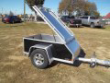 AE46 BLACK ENCLOSED CAR PULL BEHIND TRAILER