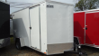 "2020 PACE AMERICAN 6X12 OBDLX SI2 24VS 6""X SVNT WHITE ENCLOSED CARGO TRAILER"
