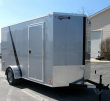 6'X12' SCOUT CARGO TRAILER SILVER 2/TONE TRIMMED BLACK 6 EXTRA