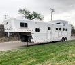 2008 ELITE 4 HORSE LIVING QUARTER HORSE TRAILER