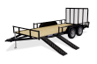 2021 SURE-TRAC 7 X 16 TUBE TOP ATV TRAILER 7K TANDEM