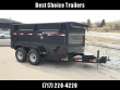 """2019 IRONBULL 7X12' 4' HIGH SIDE DUMP TRAILER 14000# GVW RAMPS * CLEARANCE * RAMPS * TARP * SCISSOR * SPARE MOUNT * STACKED I-BEAM FRAME * 6"""" BEDFRAME * 10GA BED & WALLS * CLEARANCE"""
