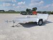 2021 ALUMA 7712HBT 12' ALUMINUM ATV TRAILER WITH BI FOLD GATE
