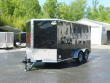 COVERED WAGON 7' X 14' BLACK ENCLOSED TRAILER W/ RAMP