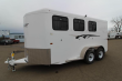 2019 TRAILS WEST ADVENTURE MX 3 HORSE TRAILER - UPGRADED REAR DOOR WINDOWS - SWING OUT SADDLE RACK - NEW FLOOR PLAN WITH LARGER STALLS!
