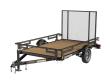 2020 KARAVAN UTILITY STEEL FOLD-DOWN RAILS KPU-2990-72-12