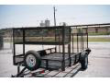6X12 SA UTILITY TRAILER W SECURITY BASKET AND SPARE