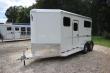 2019 ADAM JU-LITE 2 HORSE STRAIGHT LOAD W/4FT DRESSING ROOM HORSE TRAILER