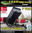 *DB43* 7X16 LAMAR DUMPS AND TRAILERS |7 TON DUMP TRAILER 7 X 16 | D83-16T7-LP/48S