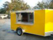 6X12 BULLET ENCLOSED CONCESSION TRAILER YELLOW