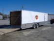 24 ENCLOSED CARGO CAR HAULER TRAILER WHITE FREE DECALS