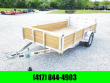 2020 H AND H TRAILER 76 X 12 ALUMINUM UTILITY TRAILER W/ WOOD SIDES