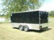 7X16 ENCLOSED CARGO MOTORCYCLE TRAILER BLACK W ATP