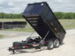 COMMERCIAL GRADE OFFERED 14 FOOT DUMP TRAILER