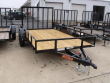 UTILITY TRAILER 77 X 10 FRONT & REAR FOLDING GATE 2990 AXLE MAXXD