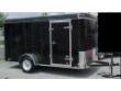 2012 6X14 SINGLE AXLE ENCLOSED TRAILER - BLACK
