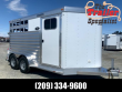 2021 ELITE TRAILERS 2 HORSE BUMPER PULL STOCK COMBO TRAILER