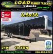 2019 LOAD RUNNER ENCLOSED CARGO TRAILER EFG102-36TT7T-R
