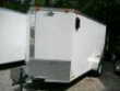 6X12 SA WHITE ENCLOSED UTILITY CARGO TRAILER BARN DOORS