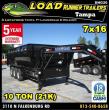 2019 LOAD RUNNER DUMP TRAILER DNG/DG83-16TT7-FRAME
