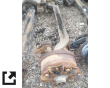 1994 WHITE/GMC WG AXLE ASSEMBLY, FRONT (STEER)
