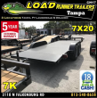 *CH17* 7X20 7K STEEL DECK CAR HAULER TRAILER LR HAULERS TRAILERS 7 X 20 | CH82-20T3-1B-SD