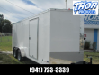 7 X 16 TA ENCLOSED TRAILER V-NOSE * RAMP AND SIDE DOORS * WHITE ROOF VENT