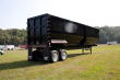 MANAC 40 FT FRAMELESS HALF ROUND END DUMP TRAILER - TANDEM AXLE, SINGLE POINT