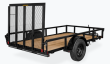 2021 H AND H TRAILER 60X8 RAIL SIDE UTILITY TRAILER 3K IDLER
