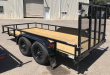2020 TOP HAT TRAILERS 77X14 T/A LDX