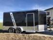 2019 LEGEND TRAILERS BLACK DELUXE 7'X14' + 3' V-NOSE TANDEM AXLE ENCLOSED CARGO TRAILER