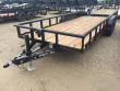 "2018 LONESTAR 16 FT. 83"" TANDEM AXLE UTILITY PIPETOP TRAILER"