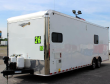 ORDERS ONLY 26' MILLENNIUM ENCLOSED CAR TRAILER/TOY HAULER TONS OF OPTIONS ADDED! BLACK CABINETS