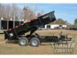 7 X 12 12,000LBS HYDRAULIC DECK OVER DUMP TRAILER
