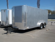 "ENCLOSED TRAILER 7 X 16 RAMP 6' 6"" TALL 7000 GVW SILVER"