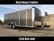 "2020 SURE-TRAC 8.5X20' PRO SERIES ENCLOSED CAR HAULER TRAILER 9900# GVW * CHARCOAL EXTERIOR * TORSION AXLES * .030 SCREWLESS EXTERIOR * ROUND TOP * ALUMINUM WHEELS * 1 PC ROOF * 7K DROP JACK * 6"" TUBE FRAME * 48"" RV DOOR * PLYWOOD * 5200# AXLES * TUBE ST"