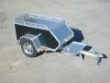 MCTXL BLKENCLOSED CAR PULL BEHIND TRAILER MOTORCYCLE
