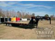 8.5 X 30' GOOSENECK EQUIPMENT FLATBED TRAILER