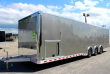 NOW AVAILABLE 2019 ALL ALUM 32' MILLENNIUM EXTREME ENCLOSED CAR TRAILER RED CABINETS & WING