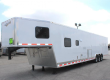NOW READY! TAPERED NOSE 2019 44' MILLENNIUM SILVER 12'XE LIVING QUARTER TRAILER