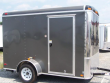 6X10 GRAY ENCLOSED CARGO MOTORCYCLE TRAILER ROUND TOP