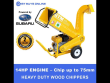 CROMMELINS WOOD CHIPPER 14 HP PETROL ROBIN ENGINE CHIP 1