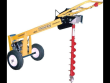 CROMMELINS POST HOLE DIGGER ONE-MAN EARTH AUGER 6 HP ROBIN SUBARU ENGINE BY GROUNDHOG USA