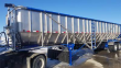 TRINITY 42X96 TANDEM AXLE STAINLESS STEEL BELT TRAILER - AIR RIDE, FIXED AXLE